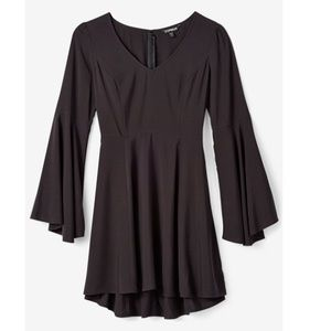 Express bell sleeve fit and flare dress size 4